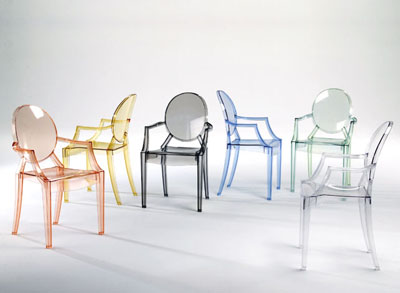 Authentic U0027Louis Ghostu0027 Chairs Designed By Philippe Starck For Kartell.